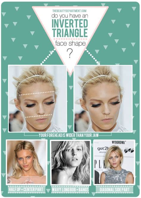 inverted triangle center part hair tbdinvertedtrianglefaceshape