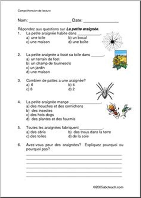 reading comprehension test in french french reading comprehension worksheets french language