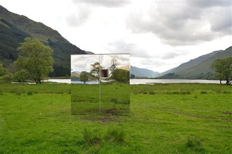 Mirrored Cabin by Mirrored Lookout Cabin Camouflages Surrounding Landscape