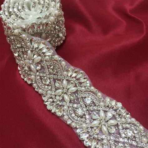 sash bead moulding bridal applique rhinestone hairstylegalleries