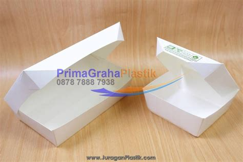 Paper Box Lunch Ukuran M lunch box paper hamburger nasi goreng martabak small
