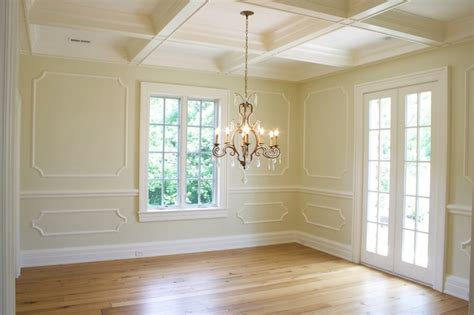 coffered wall decorative wall moldings design ideas