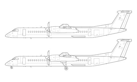 how to draw doodle lines airliner norebbo