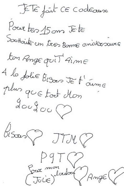 Lettre De Remerciement D Anniversaire lettre de anniversaire sandrine b 233 langer