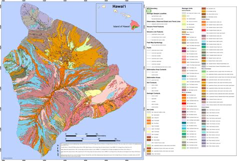 volcanoes in hawaii map hawaii volcanoes maps npmaps just free maps period