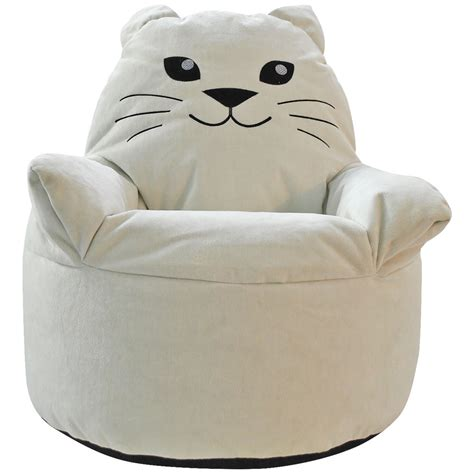 cat bean bag chair cats and bean bag chairs cat faux fur beanbag pbteen