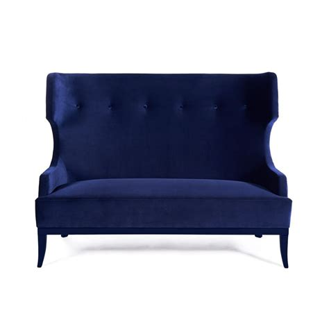 2 seat sofa blue designer furniture swanky interiors