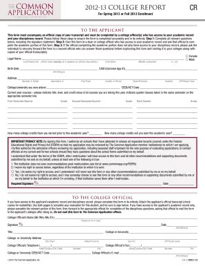 printable version of common application generic college application form fill online printable