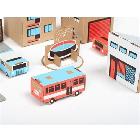 How To Make Amazing Paper Toys - a cardboard play town for and rebels who