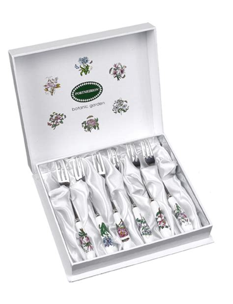 Portmeirion Botanic Garden Pastry Forks Set Of 6 Portmeirion Botanic Garden Pastry Forks Set Of 6 22 75 You Save 11 25