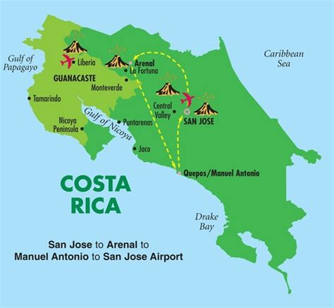 map of san jose international airport costa rica taste of costa rica 1 3nts arl 3 nts mat all