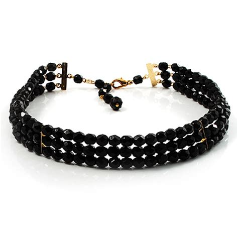 Bead Choker black bead jewellery chokers avalaya