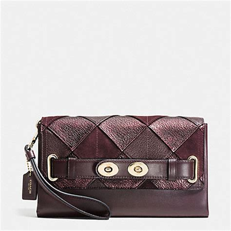 Coach Patchwork - coach f64639 clutch in patchwork leather imrem