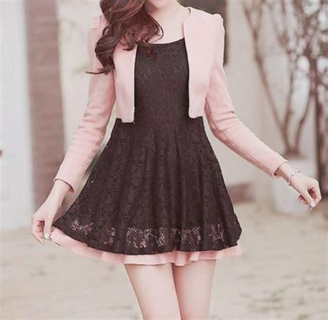 Dress Korea Pink 3 dress pink sweater korean fashion fashion kawaii black dress wheretoget