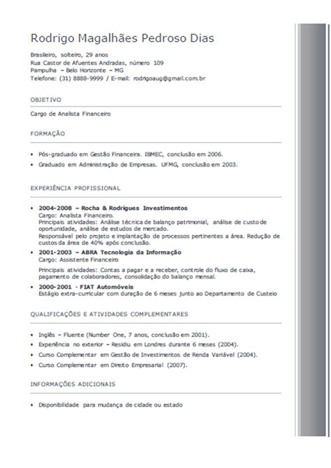 Modelo Curriculum 2014 España Curriculum Vuoto Da Stare Pdf New Style For 2016 2017