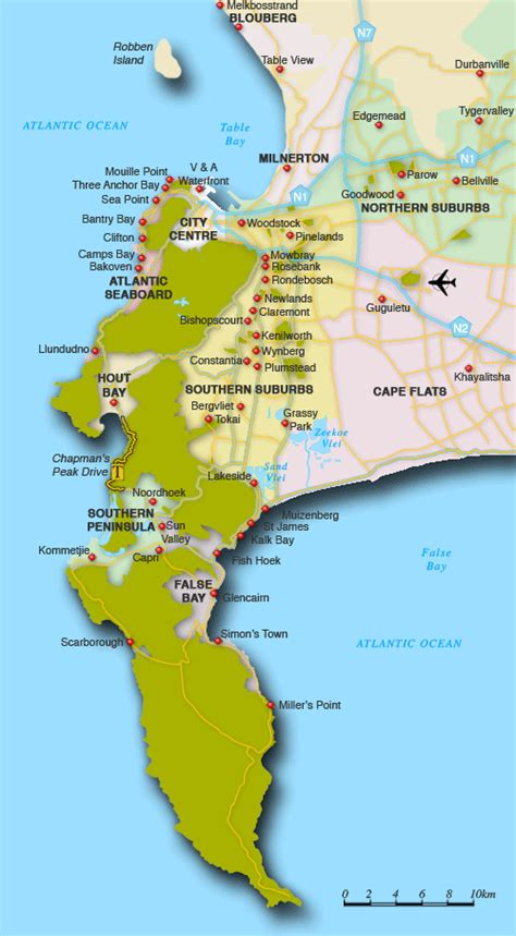 cape town south africa map map of cape town suburbs cape town map south africa