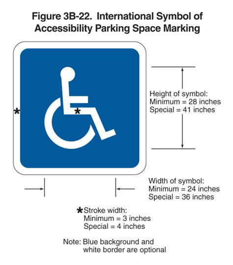 how do i sign stripe a parking space for persons with