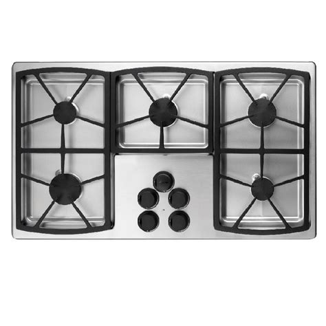 Dacor Gas Cooktops shop dacor classic 5 burner gas cooktop stainless steel common 36 in actual 36 in at