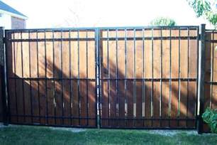 privacy fence panels with nice combine wood and iron fence