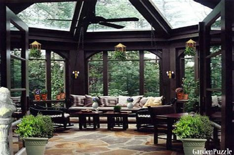 Patio F Gardenpuzzle Project Indoor Glass Gazebo Sun Room