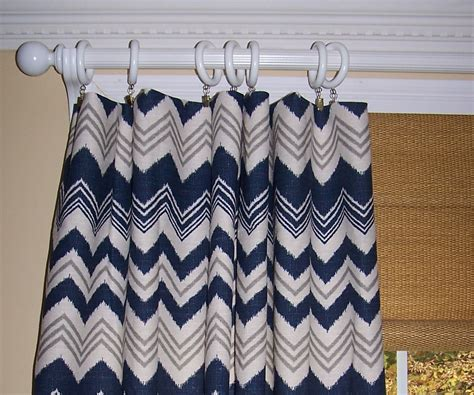 Navy Blue Chevron Curtains Denton Linen Navy Blue Chevron Curtains By Cathyscustompillows