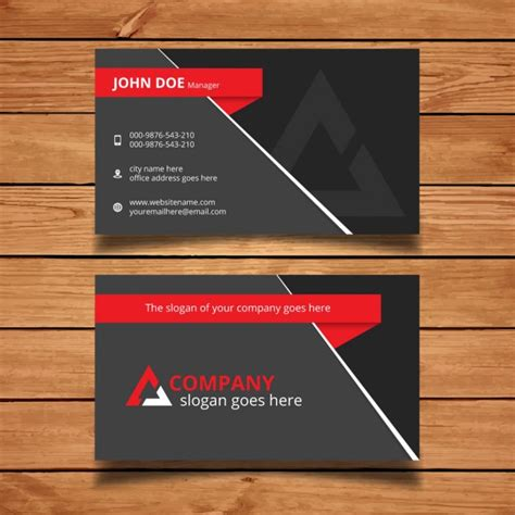 Business Card Template Grey by And Grey Modern Business Card Template Vector Free