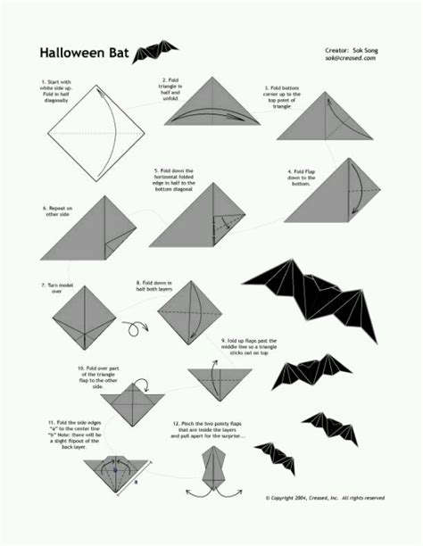 Easy Origami Bats - broken how to make an origami bat 3 fall