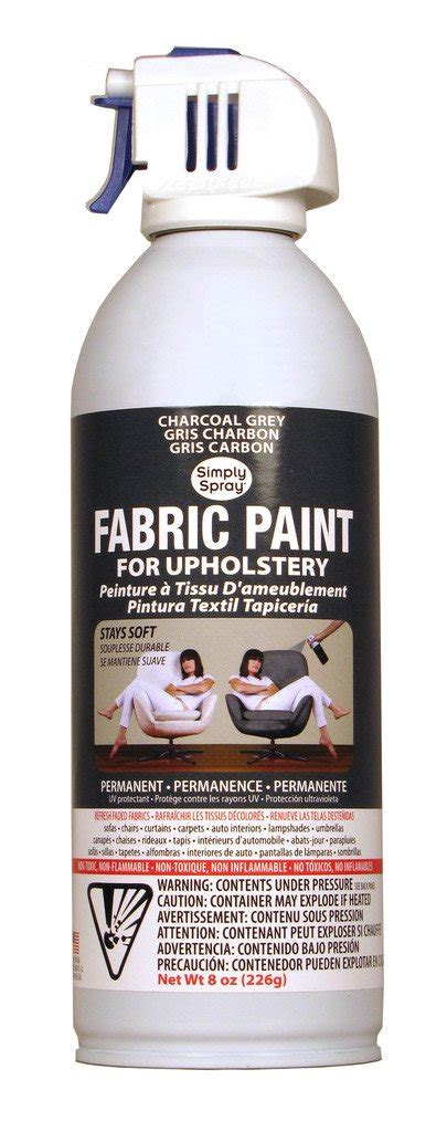 Where Can I Buy Upholstery Paint by Charcoal Grey Upholstery Fabric Paint 8oz Can Spray It New