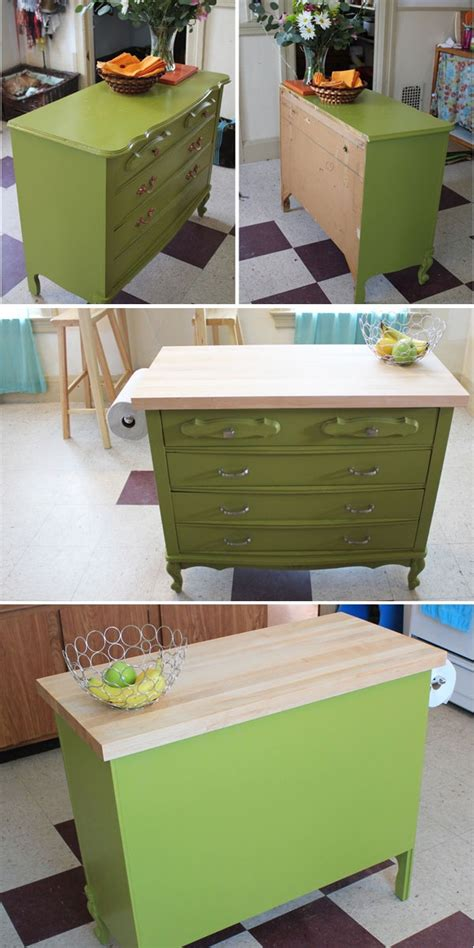 dresser kitchen island dresser to kitchen island repurpose ideas refurbished ideas