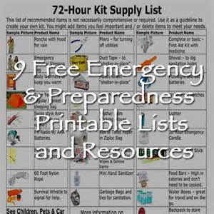 Free emergency amp preparedness printable lists and resources off