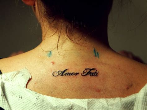 amor fati tattoo fati i want