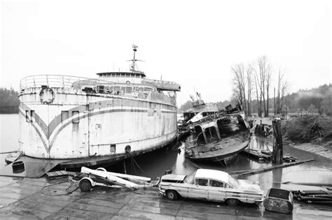 fast boat vancouver to victoria bc ferries derelict ship graveyard near mission photos