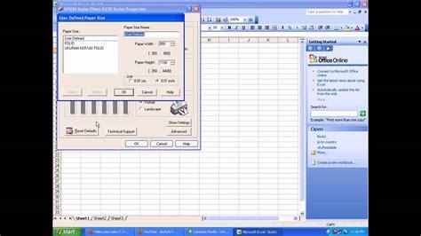 Kertas Folio Cara Mengatur Ukuran Kertas Folio Pada Excel Dan Mengatur