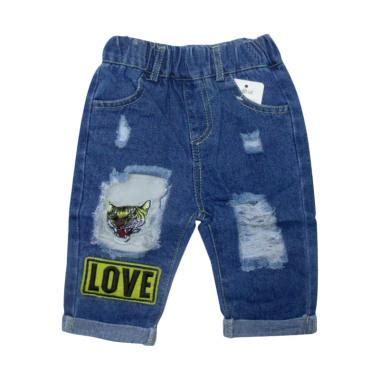 Celana Anak Tanggung jual verina baby ripped variasi bordir tiger celana anak blue harga kualitas