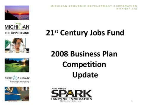 Competition Update by 21st Century Fund 2008 Competition Update