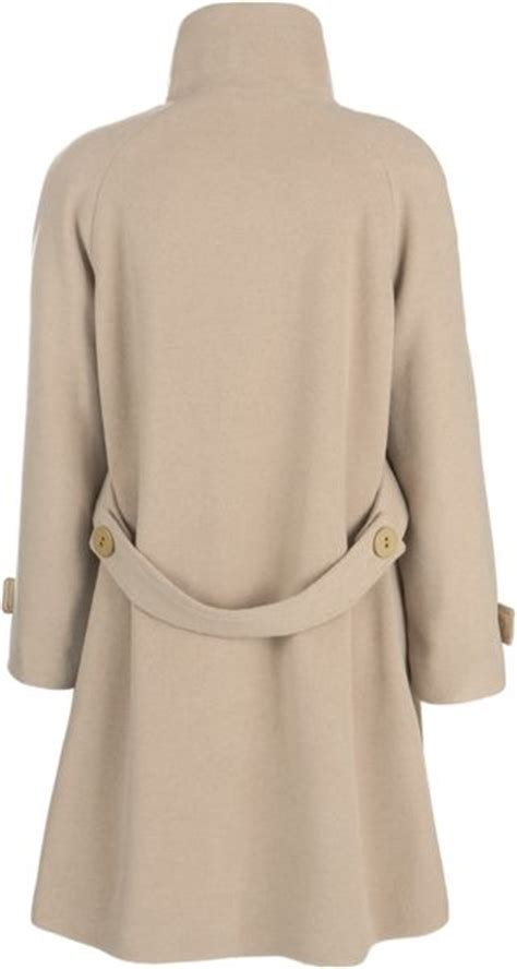 camel swing coats for ladies john lewis women jane swing coat camel in beige camel lyst