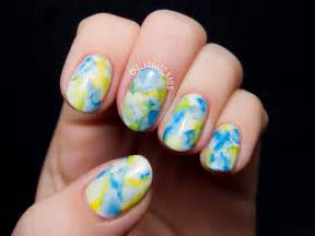 the easiest nail art ever sharpie marbled gel nails