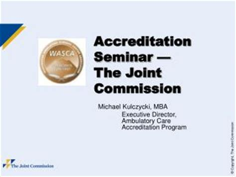 Joint Mba Programs Ucsd by Ppt Jcaho Joint Commission On Accreditation Of
