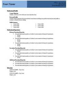 free blank resume templates for microsoft word sle resume format blank resume templates microsoft