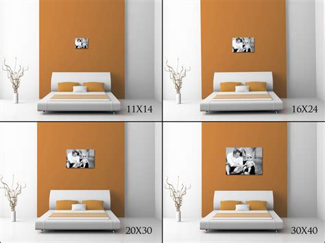 how big is a bedroom print size comparisons on pinterest photo walls large prints and hanging photos