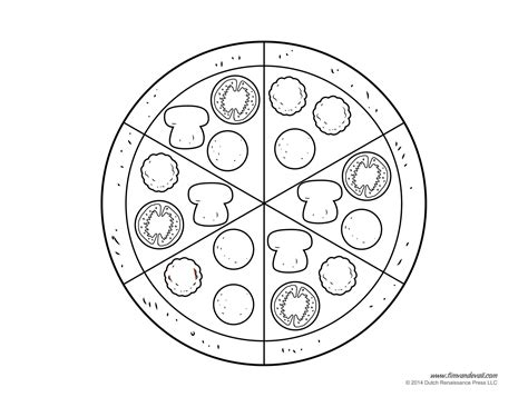 pizza coloring pages preschool pizza black and white clip art