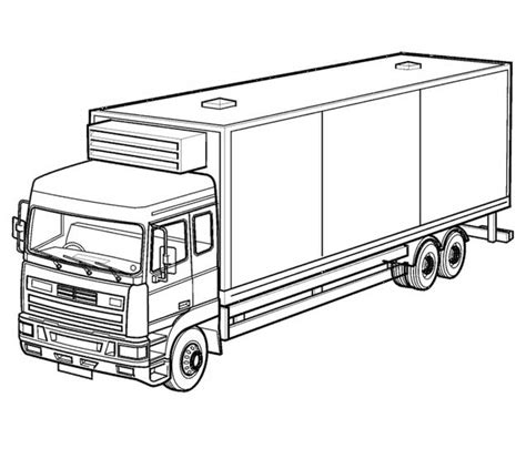 Semi Coloring Pages by 40 Free Printable Truck Coloring Pages
