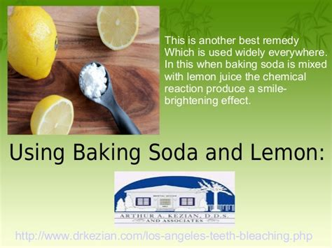 Detox With Lemon Juice And Baking Soda by Best Home Remedies Of Teeth Whitening