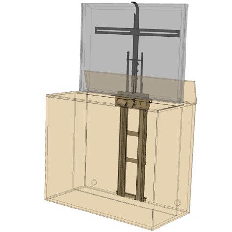 tv lift cabinet 360 degree electric swivel tv mount 3950sw