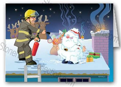 fires  funny firefighter card humorous christmas cards christmas humor firefighter