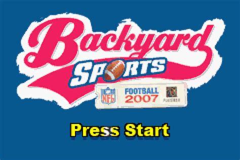 backyard football gba rom backyard football 2007 screenshots gamefabrique