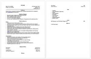 Fresher Resume Sle Usa Resume Format For Msc Biotechnology Freshers Resume Format