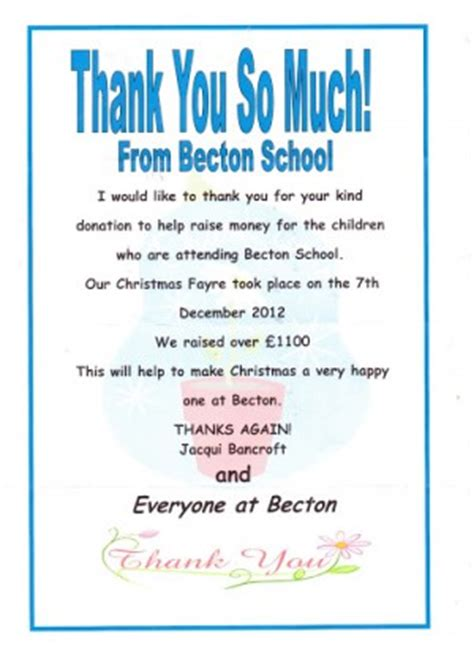 thanking letter to school charity thank you quotes quotesgram