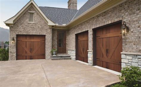 10x8 Garage Door by Cedar Garage Doors Vs Faux Wood Steel Garage Doors