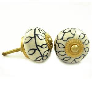indian ceramic knobs decorative knobs drawer cabinet pull